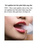 Xét nghiệm hơi thở phát hiện ung thư