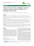 "Báo cáo khoa hoc:""  False rumours of disease outbreaks caused by infectious myonecrosis virus (IMNV) in the whiteleg shrimp in Asia"""