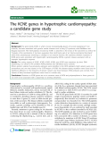 "Báo cáo khoa hoc:""  The KCNE genes in hypertrophic cardiomyopathy: a candidate gene study"""