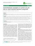 "Báo cáo khoa hoc:""   Gastrointestinal complaints in runners are not due to small intestinal bacterial overgrowth"""