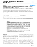 """Báo cáo khoa hoc:""""  Variation in genes encoding eosinophil granule proteins in atopic dermatitis patients from Germany"""""""