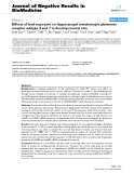 """Báo cáo khoa hoc:""""   Effects of lead exposure on hippocampal metabotropic glutamate receptor subtype 3 and 7 in developmental rats"""""""