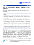 """Báo cáo khoa hoc:""""  Gait patterns in Prader-Willi and Down syndrome patients"""""""