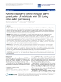 "Báo cáo khoa hoc:""   Patient-cooperative control increases active participation of individuals with SCI during robot-aided gait training"""