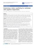 "Báo cáo khoa hoc:""   Autonomous indoor wayfinding for individuals with cognitive impairments"""