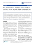 """Báo cáo khoa hoc:""""  Fall prevention and vitamin D in the elderly: an overview of the key role of the non-bone effects"""""""