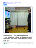 """Báo cáo khoa hoc:""""   Effectiveness of a Wii balance board-based system (eBaViR) for balance rehabilitation: a pilot randomized clinical trial in patients with acquired brain injury"""""""