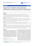 "Báo cáo khoa hoc:""  Assessment of Joystick control during the performance of powered wheelchair driving tasks"""
