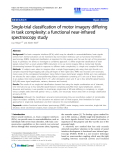 """Báo cáo khoa hoc:""""   Single-trial classification of motor imagery differing in task complexity: a functional near-infrared spectroscopy study"""""""