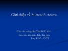 Giới thiệu về Microsoft Access