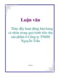 Luận văn: Thúc đẩy hoạt động bán hàng cá nhân trong quá trình tiêu thụ sản phẩm ở Công ty TNHH Nguyễn Trần