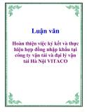 Luận văn: Hoàn thiện việc ký kết và thực hiện hợp đồng nhập khẩu tại công ty vận tải và đại lý vận tải Hà Nội VITACO