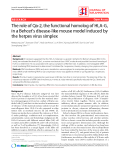 "Báo cáo y học: "" The role of Qa-2, the functional homolog of HLA-G, in a Behcet's disease-like mouse model induced by the herpes virus simplex"""