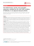 """Báo cáo y học: """"Anti-inflammatory activity and neutrophil reductions mediated by the JAK1/JAK3 inhibitor, CP-690,550, in rat adjuvant-induced arthriti"""""""