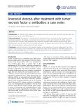 "Báo cáo y học: "" Anorectal stenosis after treatment with tumor necrosis factor a antibodies: a case series"""