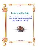 Luận văn: Tổ chức công tác kế toán lao động, tiền lương tại công ty Khai thác công trình thuỷ lợi Mỹ Đức - Hà Tây