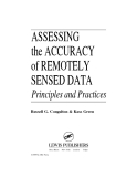 ASSESSING the ACCURACY of REMOTELY SENSED DATA - CHAPTER 1