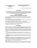 Quyết định số 437/QĐ-TCDS