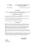 Quyết định số 2572/QĐ-BTC