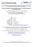 "Báo cáo khoa hoc:""  Global Transcriptome Analysis of Bacillus cereus ATCC 14579 in Response to Silver Nitrate Stress"""
