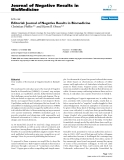 "Báo cáo khoa hoc:""  Editorial: Journal of Negative Results in Biomedicine"""
