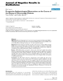 """Báo cáo khoa hoc:""""  Prospective Epidemiological Observations on the Course of the Disease in Fibromyalgia Patients"""""""
