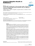"""Báo cáo khoa hoc:""""   Despite WT1 binding sites in the promoter region of human and mouse nucleoporin glycoprotein 210, WT1 does not influence expression of GP210"""""""