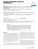 "Báo cáo khoa hoc:""  Beta-defensin genomic copy number is not a modifier locus for cystic fibrosis"""