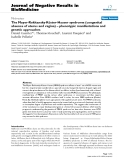 """Báo cáo khoa hoc:""""  The Mayer-Rokitansky-Küster-Hauser syndrome (congenital absence of uterus and vagina) – phenotypic manifestations and genetic approaches"""""""