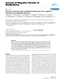 """Báo cáo khoa hoc:""""   Genetic variation in the myeloperoxidase gene and cognitive impairment in Multiple Sclerosis"""""""