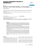 """Báo cáo khoa hoc:""""  Fall risk in an active elderly population – can it be assessed?"""""""