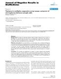 "Báo cáo khoa hoc:""   Variance in multiplex suspension array assays: carryover of microspheres between sample wells"""