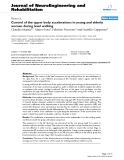 """Báo cáo khoa hoc:""""   Control of the upper body accelerations in young and elderly women during level walking"""""""