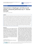 """Báo cáo khoa hoc:"""" Improvement of diaphragm and limb muscle isotonic contractile performance by K+ channel blockade"""""""