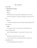 Bài 9 : AMIN (tiết 2)