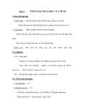 Tiết 14 TÍNH CHẤT HOÁ HỌC CỦA MUỐI