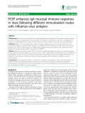 "Báo cáo y học: "" PCEP enhances IgA mucosal immune responses in mice following different immunization routes with influenza virus antigens"""