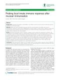 "Báo cáo y học: "" Probing local innate immune responses after mucosal immunisation"""