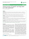 "Báo cáo y học: ""Antiviral activity of Engystol® and Gripp-Heel®: an in-vitro assessment"""