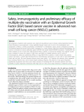"Báo cáo y học: ""Safety, immunogenicity and preliminary efficacy of multiple-site vaccination with an Epidermal Growth Factor (EGF) based cancer vaccine in advanced non small cell lung cancer (NSCLC) patients"""