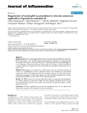 "Báo cáo y học: "": Suppression of neutrophil accumulation in mice by cutaneous application of geranium essential oi"""