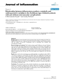 """Báo cáo y học: """"Relationship between inflammatory markers, metabolic and anthropometric variables in the Caribbean type 2 diabetic patients with and without microvascular complications"""""""