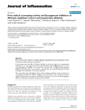 "Báo cáo y học: "" Free radical scavenging activity and lipoxygenase inhibition of Mahonia aquifolium extract and isoquinoline alkaloids"""