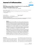 "Báo cáo y học: ""Anti-inflammatory effects of ciprofloxacin in S. aureus Newman induced nasal inflammation in vitro"""