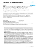 "Báo cáo y học: ""JNK pathway is involved in the inhibition of inflammatory target gene expression and NF-kappaB activation by melittin"""