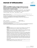 "Báo cáo y học: ""CCR2 and CXCR4 regulate peripheral blood monocyte pharmacodynamics and link to efficacy in experimental autoimmune encephalomyelitis."""