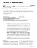 "Báo cáo y học: ""Effects of hydrogen sulfide on inflammation in caerulein-induced acute pancreatitis."""