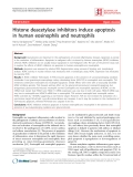 """Báo cáo y học: """" Histone deacetylase inhibitors induce apoptosis in human eosinophils and neutrophils"""""""