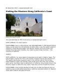 Visiting the Missions Along California's Coast