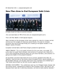 New Plan Aims to End European Debt Crisis